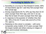 marketing to adults 65