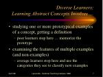 diverse learners learning abstract concepts involves