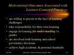 motivational outcomes associated with learner centered practices16