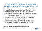 benchmark definition of household economic resources as used by oecd