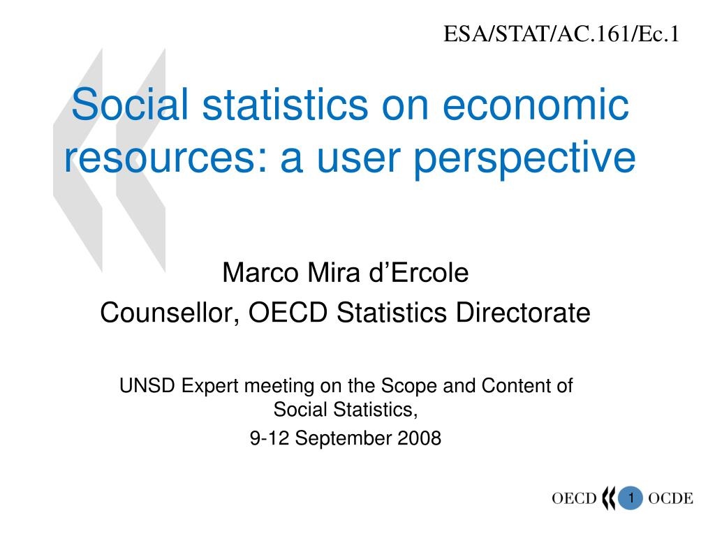 social statistics on economic resources a user perspective l.