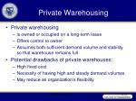 private warehousing