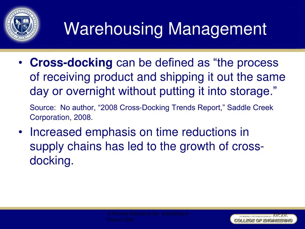 PPT - Chapter 10 Warehousing Management PowerPoint