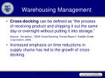 warehousing management10