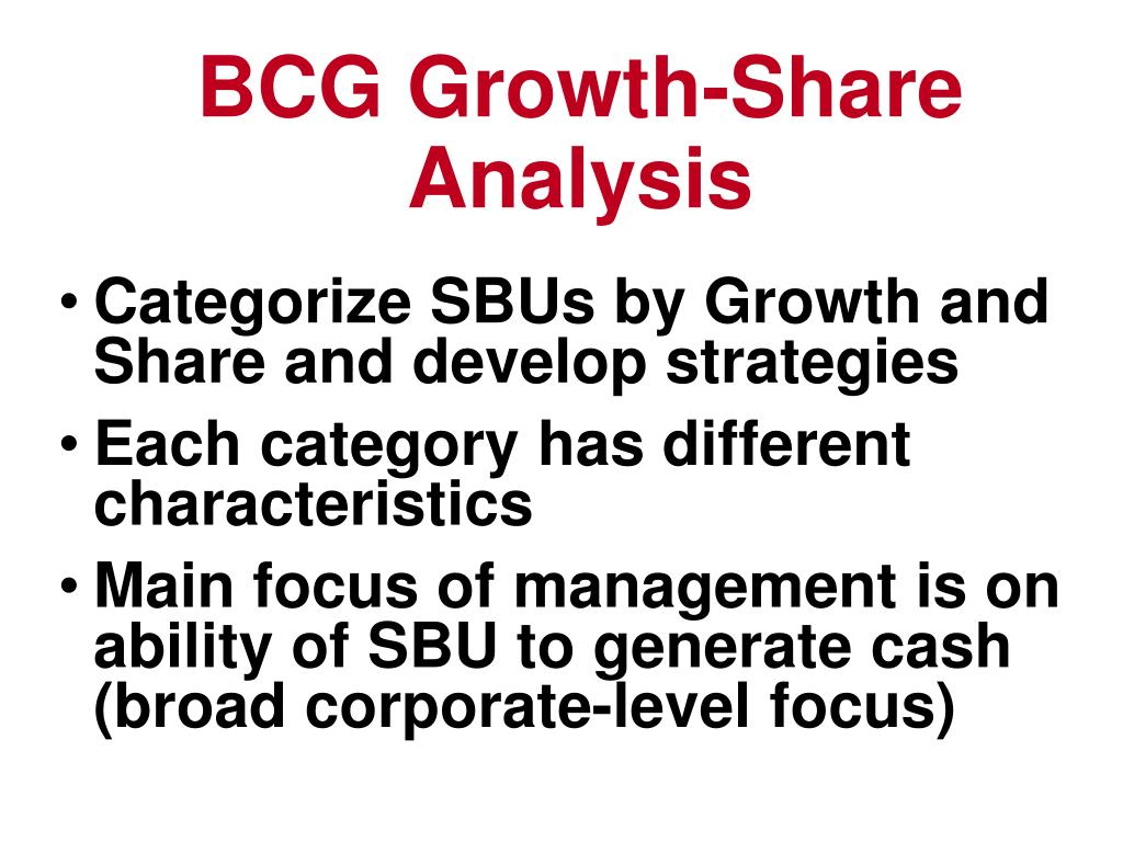 BCG Growth-Share Analysis