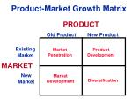 product market growth matrix