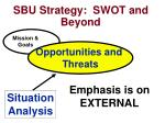 sbu strategy swot and beyond