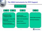 the wbg instruments for ppp support
