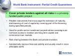 world bank instrument partial credit guarantees