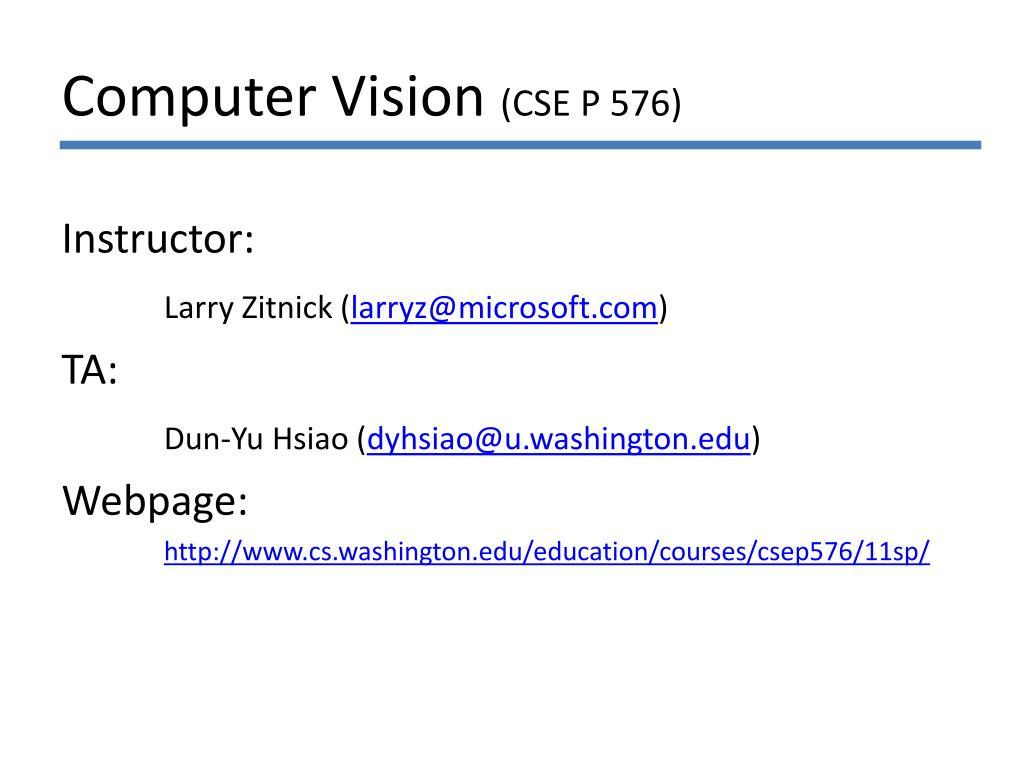 computer vision cse p 576 l.