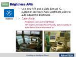 brightness apis