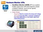hardware monitor apis