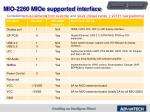 mio 2260 mioe supported interface