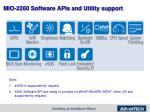 mio 2260 software apis and utility support