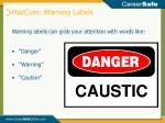 hazcom warning labels