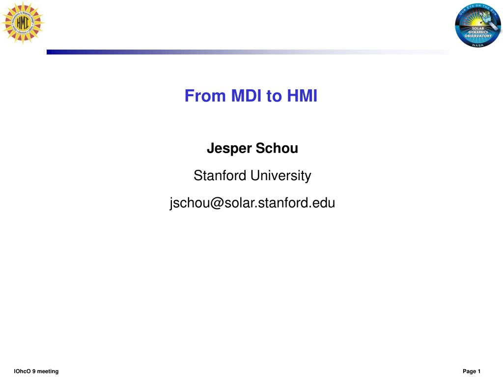 from mdi to hmi l.