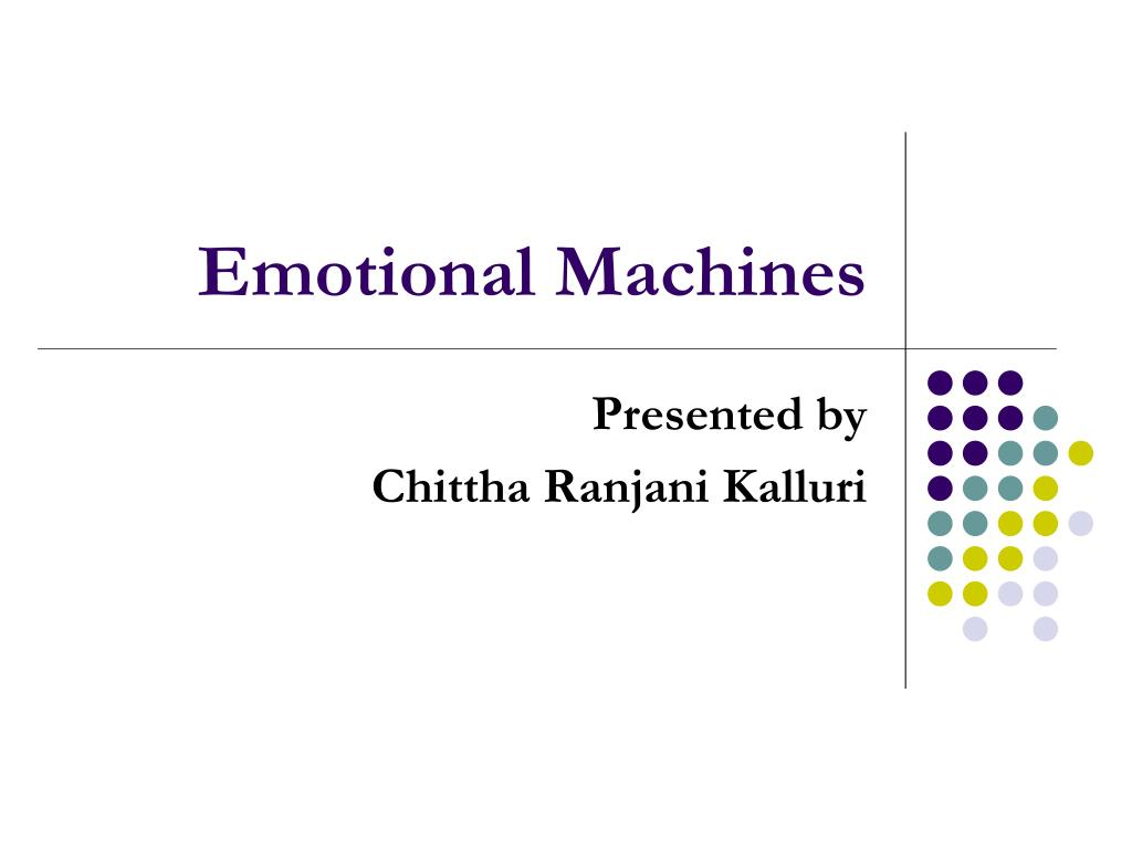 emotional machines l.