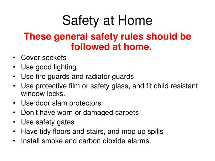Safety at home