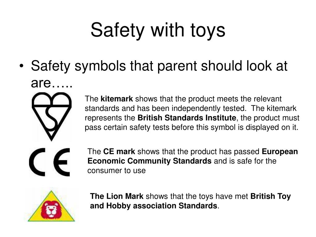 Safety with toys