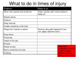 what to do in times of injury