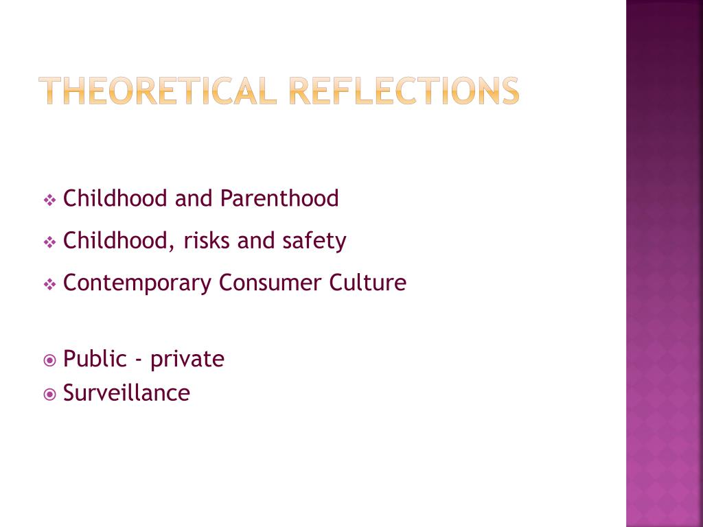 Theoretical reflections