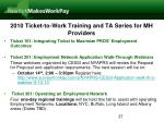 2010 ticket to work training and ta series for mh providers27