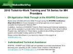 2010 ticket to work training and ta series for mh providers28