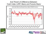 and there s a difference between cash index lrp basis and futures basis
