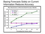 basing forecasts solely on current information reduces accuracy