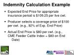indemnity calculation example19