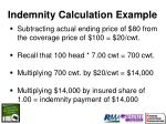 indemnity calculation example20