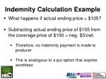 indemnity calculation example21
