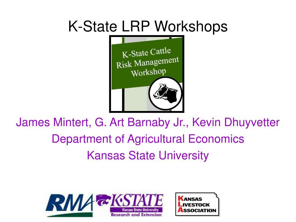 k state lrp workshops l.