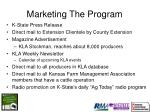 marketing the program