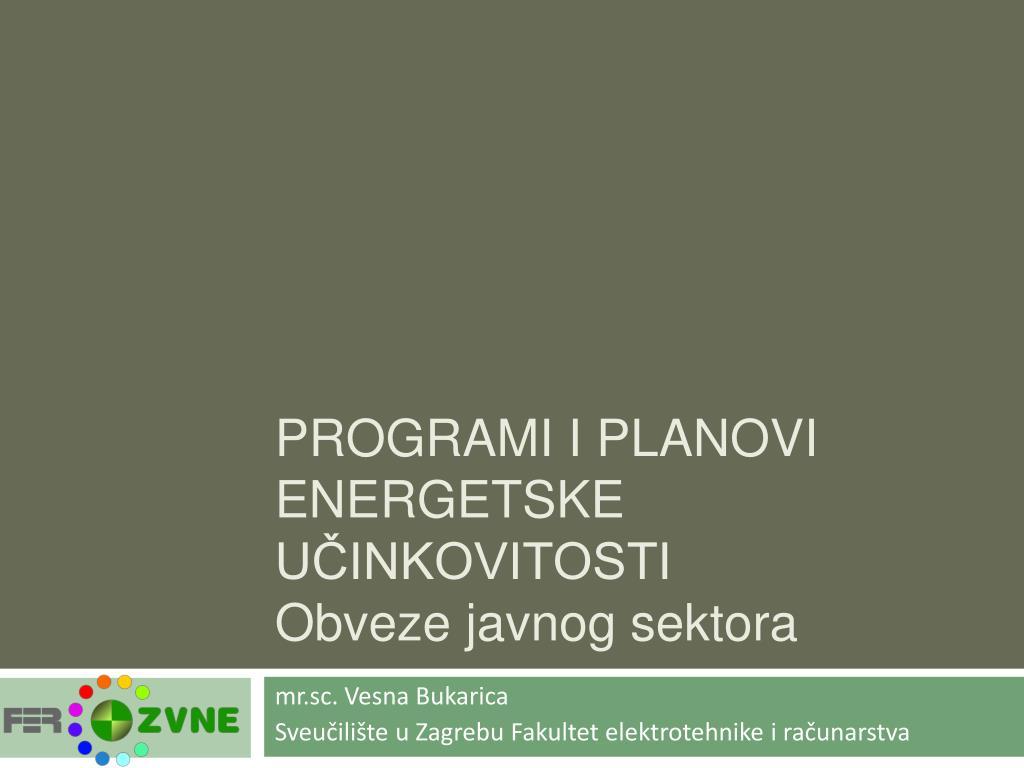 programi i planovi energetske u inkovitosti obveze javnog sektora l.