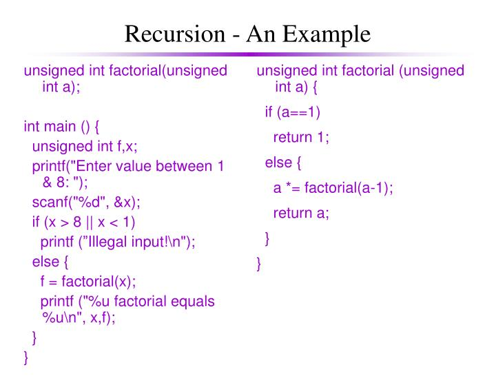 unsigned int factorial(unsigned int a);