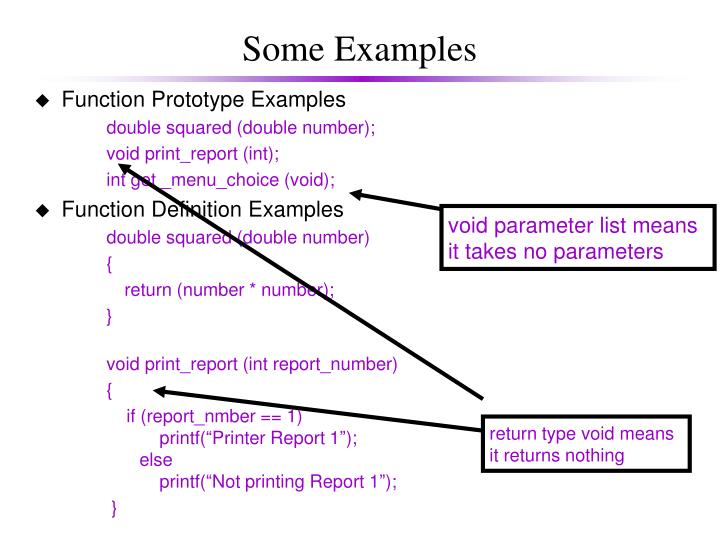 void parameter list means
