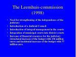the leemhuis commission 1998