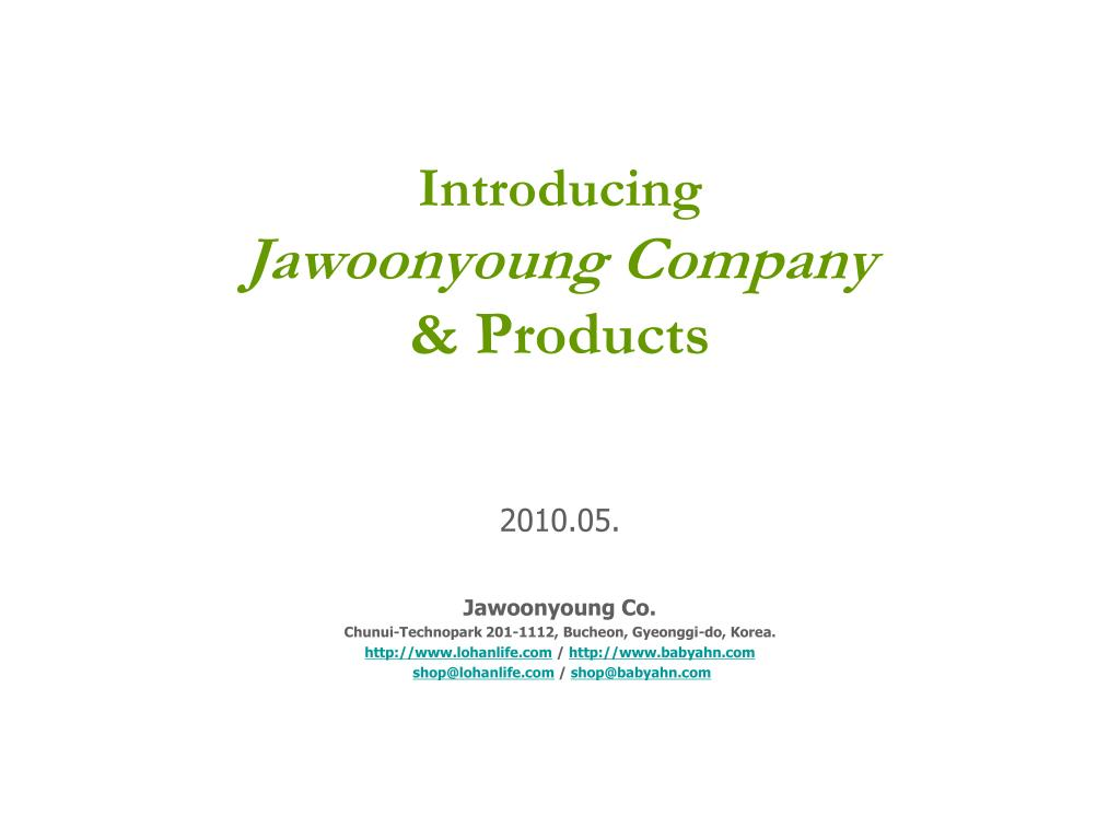 introducing jawoonyoung company products l.