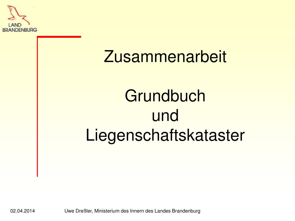 zusammenarbeit grundbuch und liegenschaftskataster l.