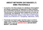 about network databases 7 idms traversals