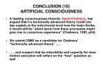 conclusion 10 artificial consciousness