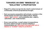 towards an idms mindbase 2 isolating a proposition