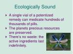 ecologically sound