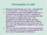 homeopathy is safe