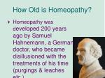 how old is homeopathy