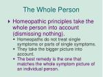 the whole person
