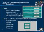 auto and commercial vehicle user ttv calculator