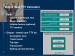transit user ttv calculator