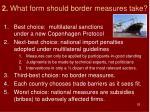 2 what form should border measures take
